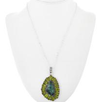 Southwest Green Turquoise Pendant 32342