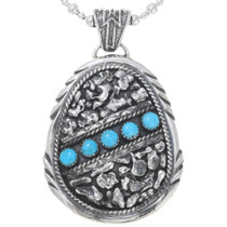Sterling Silver Turquoise Pendant 32344
