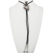 Turquoise Shell Native American Bolo Tie 32346