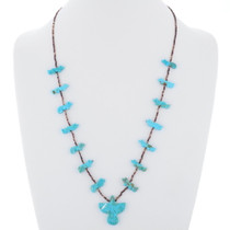 Vintage Turquoise Fetish Heishi Necklace 35337