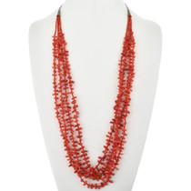 Vintage Mediterranean Coral Silver Necklace 32349