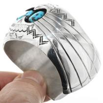 Navajo Sterling Silver Turquoise Bracelet 32355