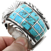 Zuni Turquoise Inlay Watch Cuff 32357