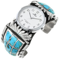 Vintage Native American Turquoise Watch 32357
