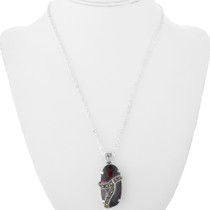 Large Faceted Garnet Pendant 32358