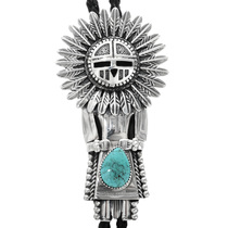 Sterling Silver Kachina Bolo Tie 32364