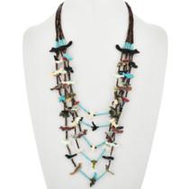 Old Pawn Zuni Carved Fetish Necklace 32371