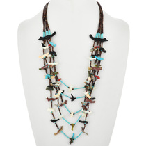 Old Pawn Zuni Carved Fetish Necklace 32371