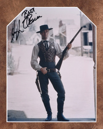 Hugh O'Brian in Wyatt Earp Autographed Print 32394