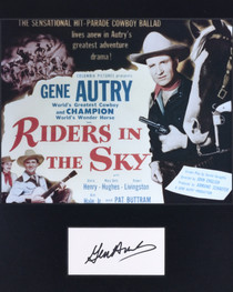 Riders in the Sky Lobby Card with Gene Autry Signature 32395
