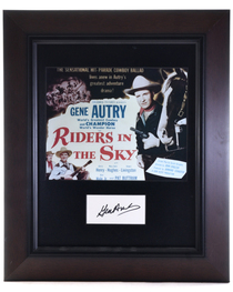 Vintage Framed Gene Autry Autograph 32395