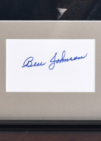 Vintage Framed Ben Johnson Autograph 32397