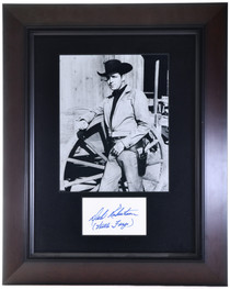 Framed Dale Robertson Photo and Autograph 32398