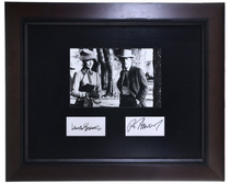 Vintage Framed Lauren Bacall Ron Howard Autographs 32402