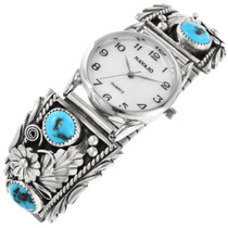 Navajo Turquoise Sterling Silver Watch 32406