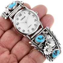 Vintage Native American Turquoise Watch 32406