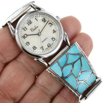 Old Pawn Zuni Turquoise Watch 32409