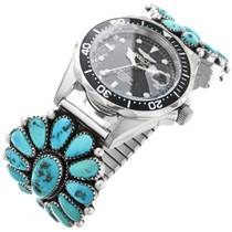 Old Pawn Sleeping Beauty Turquoise Watch 32414