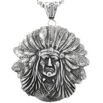 Large Indian Chief Navajo Pendant 32428