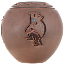 Carved Navajo Kokopelli Pottery 32433