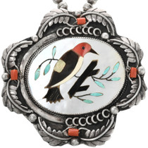 Vintage Native American Bird Pendant 32436