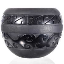Heavy Blackware Vase by Linda Tafoya-Oyenque 32437