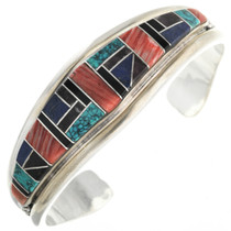 Vintage Inlaid Turquoise Spiny Oyster Inlay Bracelet 32460