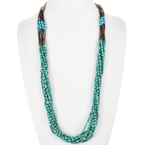 Vintage Turquoise Nugget Necklace 32463