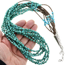Santo Domingo Beaded Turquoise Heishi Necklace 32463