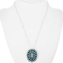 Zuni Needlepoint Turquoise Pendant 32467