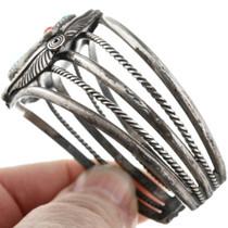 Vintage 1970's Navajo Silver Cuff Bracelet 32468