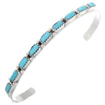 Turquoise Silver Zuni Ladies Cuff Bracelet 32483