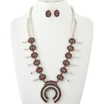 Reversible Squash Blossom Necklace Set 32482