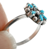Turquoise Silver Native American Ring 32486