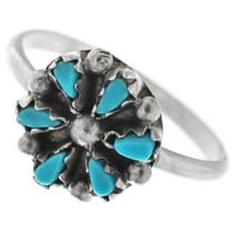 Zuni Turquoise Flower Ring 32486