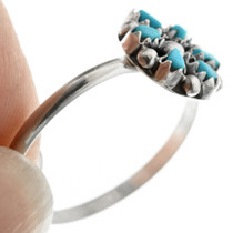 Zuni Made Turquoise Silver Ring 32488