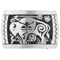 Sterling Silver Navajo Belt Buckle 32491