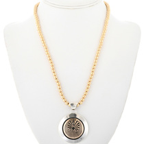 Silver 14K Gold Pendant 32492