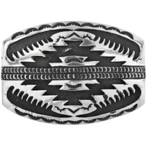 Vintage Overlaid Silver Belt Buckle 32497