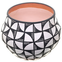 Black White Pattern Storage Pottery 32509