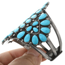 Vintage Sterling Silver Turquoise Cuff Bracelet 32523