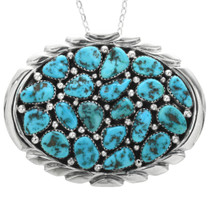 Old Pawn Sleeping Beauty Turquoise Pendant 32525