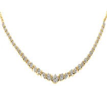 Gold Diamond Necklace 32529