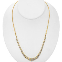 Vintage Diamond Gold Necklace 32529