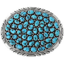Vintage Kingman Turquoise Belt Buckle 32530