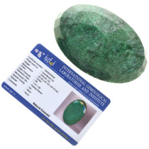 IGL Certified Faceted Emerald 32534