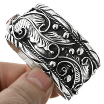 Navajo Sterling Silver Turquoise Cuff Bracelet 32540