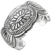 Vintage Navajo Hammered Silver Bracelet 32545