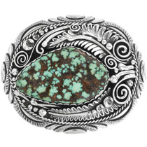 Old Pawn Crow Springs Turquoise Belt Buckle 32547