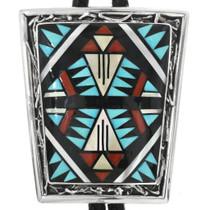 Vintage Zuni Turquoise Bolo Tie 32549
